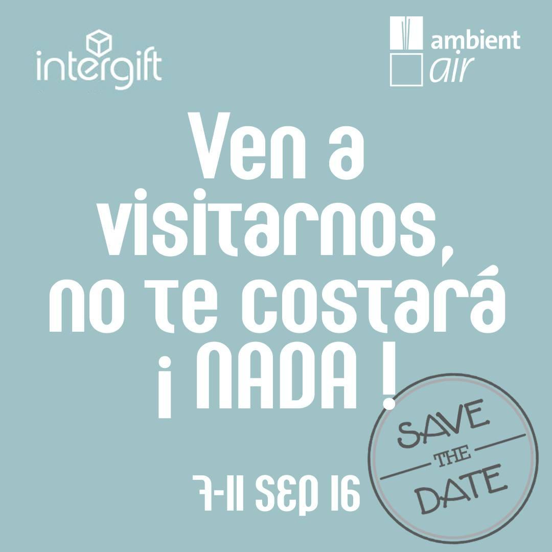 Save the date: INTERGIFT (Salón Internacional del Regalo y Decoración)