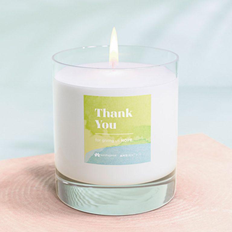 Eurofragance y Ambientair se unen para crear 'Thank you', una vela llena de emociones en agradecimiento a la labor de los sanitarios